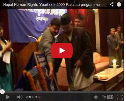 Nepal Human Rights Yearbook 2009 Release Program